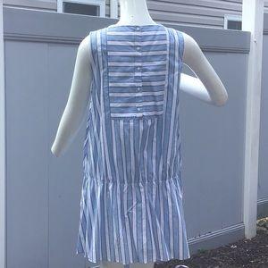 Zara Trafaluc summer dress sleeveless stripped.